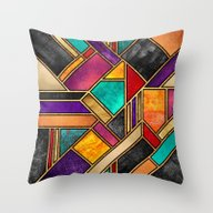 Colorful City Night Throw Pillow