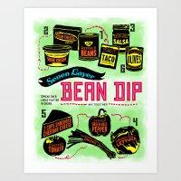 Seven Layer Bean Dip Art Print