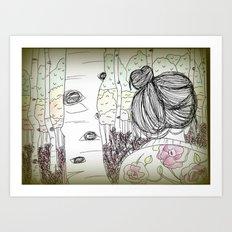 An Ode to Autumn Art Print