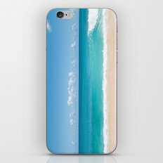 Turquoise wave iPhone & iPod Skin