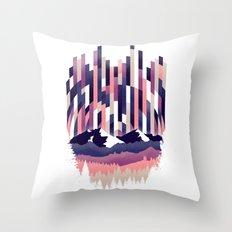 Sunrise in Vertical - Winter Purple Throw Pillow