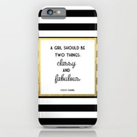 iPhone Cases featuring Coco Gold Classy & Fabulous Gold Print by poppy loves to groove