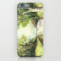 iPhone & iPod Case featuring Trees by the canal by Donna Marie Strachan