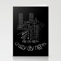 City Nights, City Lights Stationery Cards