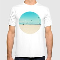 KITE SURFING Mens Fitted Tee White SMALL