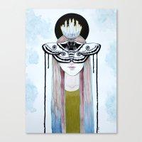 moth queen Canvas Print