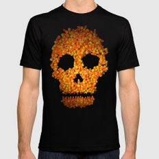 Candy Corn Skull Mens Fitted Tee SMALL Black