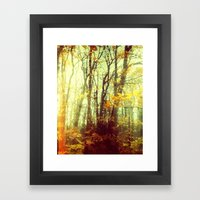 Woodland Abstract Framed Art Print