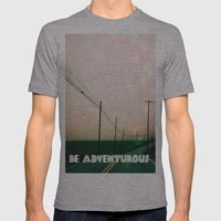 Be Adventurous  Mens Fitted Tee Athletic Grey SMALL