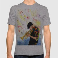 The Colors Of Jazz Mens Fitted Tee Athletic Grey SMALL