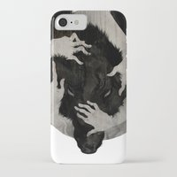 hair iPhone & iPod Cases featuring Wild Dog by Corinne Reid
