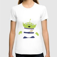 Toy Story Alien Womens Fitted Tee White SMALL