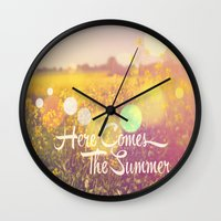 Here Comes The Summer Wall Clock