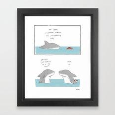 Megaladon  Framed Art Print