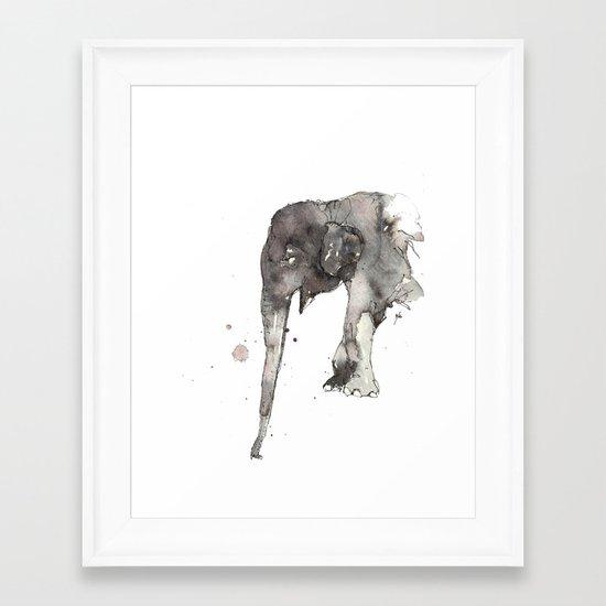 Elephant. Framed Art Print
