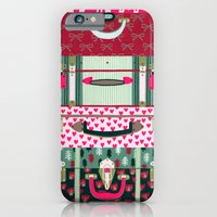 Pink Patterned Suitcases iPhone 6 Slim Case