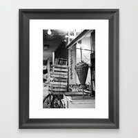 A Taco Place Framed Art Print