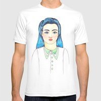 Evette Mens Fitted Tee White SMALL