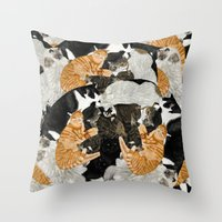 Cat Print Throw Pillow