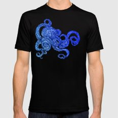Ombre Octopus SMALL Black Mens Fitted Tee