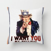 My Uncle Sam Throw Pillow