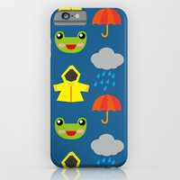 iPhone & iPod Case featuring rainy days (Children's pattern) by parisian samurai studio