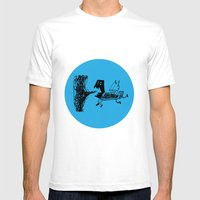 Pigdog Mens Fitted Tee White SMALL