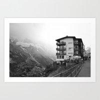 Murren Swiss Landscape Art Print