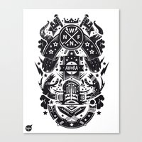 New Fren Shield Canvas Print