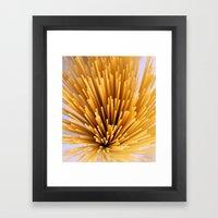 Sunray Spray Spaghetti Framed Art Print