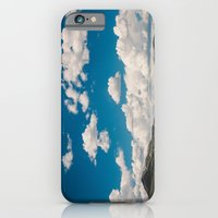 Puffy White Clouds with Blue Sky and Green Meadow Hills iPhone 6 Slim Case