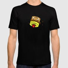 Pineapple Upside Down Cake Black SMALL Mens Fitted Tee