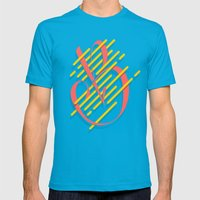 Tropical B Mens Fitted Tee Teal SMALL