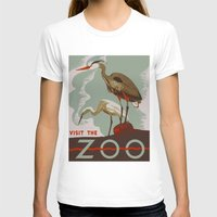 T-shirts featuring Visit the Zoo - African Birds by Yesteryears