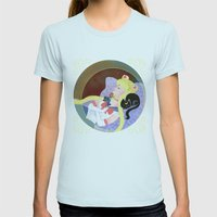 Sleeping Sailor Womens Fitted Tee Light Blue SMALL