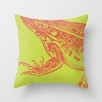 Frog Vs. Dragonfly Throw Pillow