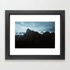 Peaked Framed Art Print