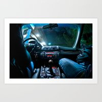 Out For A Drive  Art Print