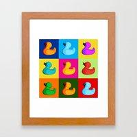 pop art duck Framed Art Print