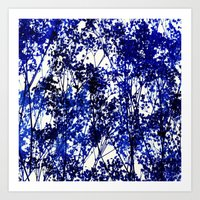 Autumn - Indigo Art Print