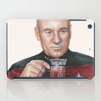 Tea. Earl Grey. Hot. Captain Picard Star Trek | Watercolor iPad Case