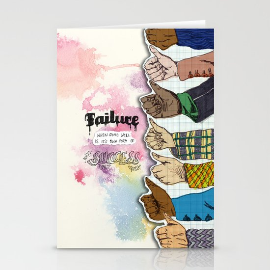 Failure is Success Stationery Card
