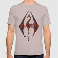 Skyrim Alduin Mens Fitted Tee Cinder SMALL