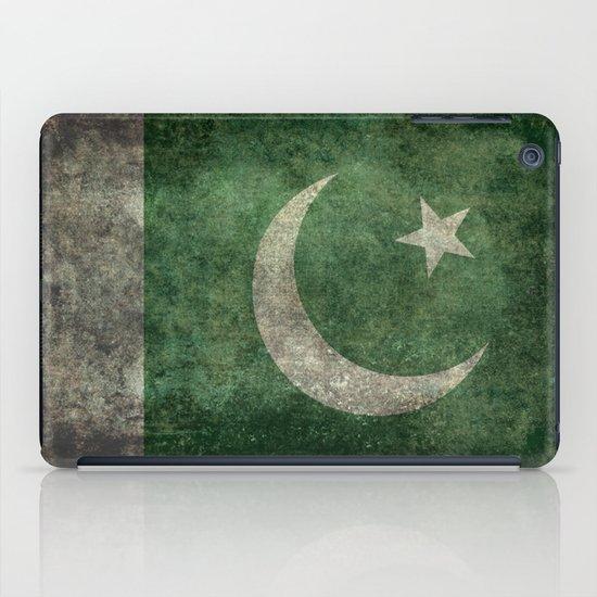 The National Flag of Pakistan - Vintage Version iPad Case
