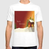 Merry Christmas II Mens Fitted Tee White SMALL