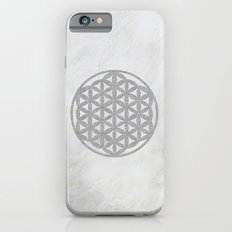 Silver Flower Of Life Sa… iPhone 6 Slim Case
