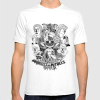 Kingston Falls 1984 Mens Fitted Tee White SMALL