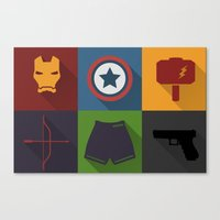 Avengers Icon Canvas Print