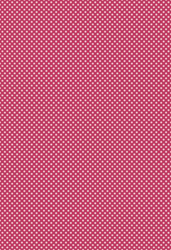 Dark Pink Spotty Pattern Art Print