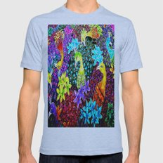 Colored Jungle Birds Mens Fitted Tee Athletic Blue SMALL